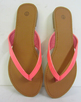 F0595-ladies Spot On toe-post Sandalias! Colores-Rosa Brillante, Amarillo, Verde. Venta