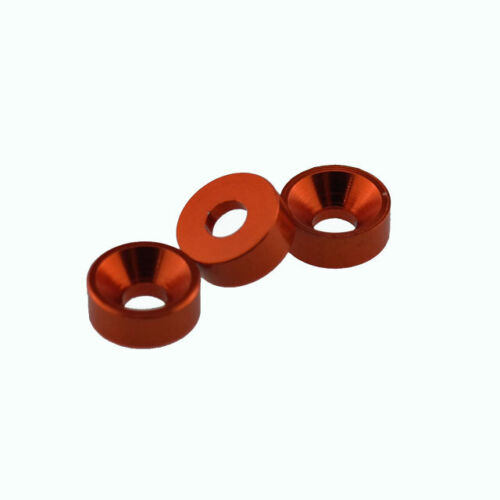 M4 4mm Anodized Aluminium Alloy Countersunk Washers For Computer Case(10Pcs)