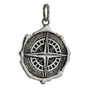 Compass-Wax-Seal-Charm-925-Sterling-Silver-Gift-Navigate-Graduation-Pendant