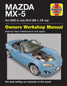 mazda mx 5 haynes manual repair manual workshop service manual 2005 rh ebay com 1994 Mazda Miata 1995 mazda miata owners manual pdf