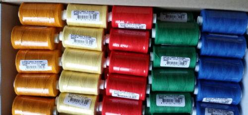 Heftfaden 100/% Baumwolle 300 Meter versch Reihgarn €1,15//100m Farben