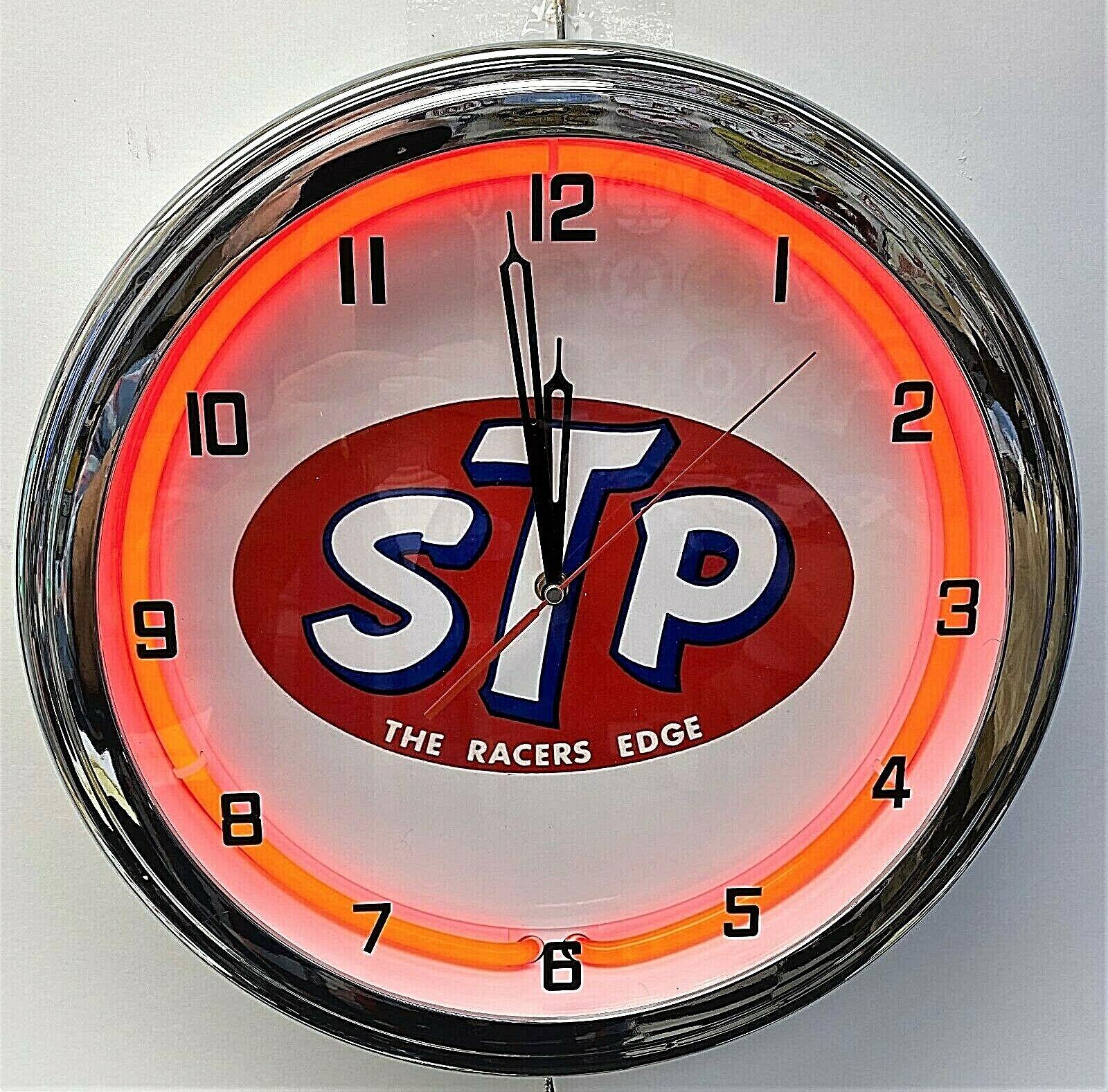 STP OIL  racers edge retro vintage garage metal decor wall sign plaque workshop