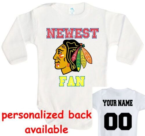 Baby bodysuit Newest fan Chicago Blackhawks hockey One Piece jersey
