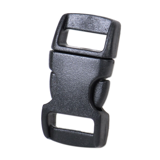 100x 3/8'' (10mm) Contoured Cat Collar Safety Plastic Buckles-black