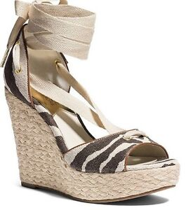 6eb3ed10844 New MICHAEL Michael Kors Lilah Ankle-Strap Espadrille Wedge Sandals ...