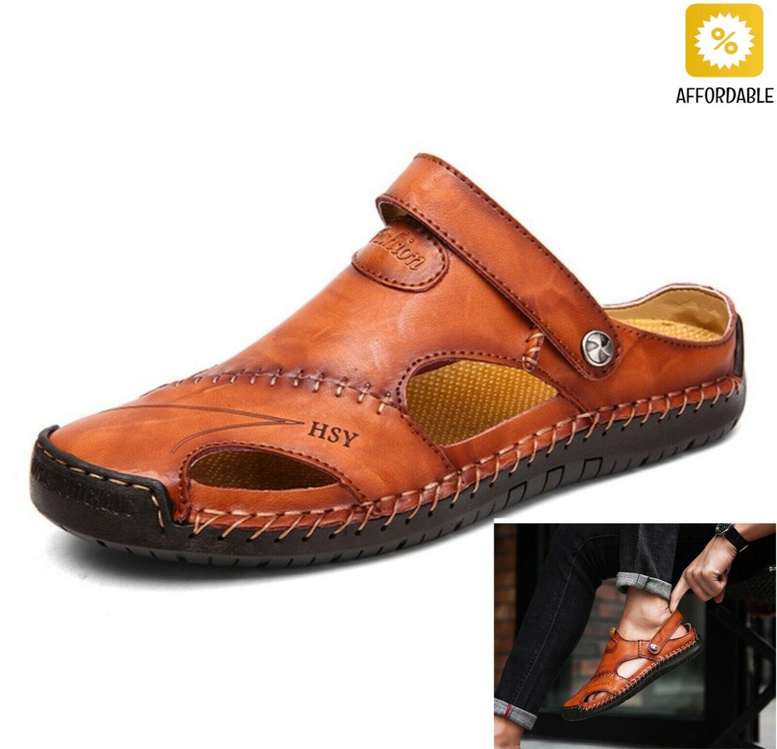 Sandal Men Leather Classic Roman Sandal Slipper Outdoor Sneaker Rubber Flip Flop