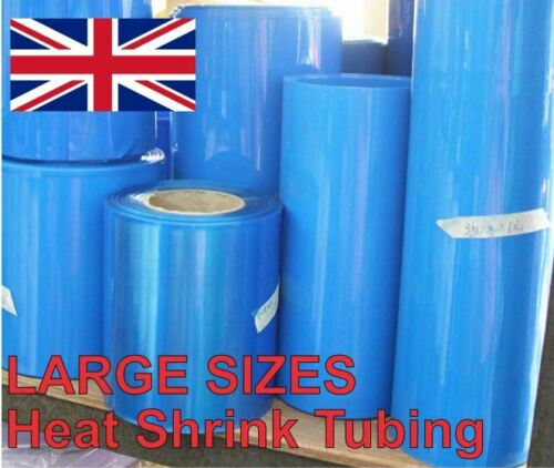 Heat Shrink Tube tubes Wrap manches bleu 160 mm x 50 cm 18650 Batterie UK Stock