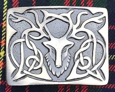 Cc Uomo Kilt Fibbia Cintura Cervo Testa Antico / Highland / 2019 Ultima Vendita Online Stile 50%