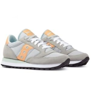 SCARPE SNEAKERS SAUCONY JAZZ DONNA GREY / ORANGE ART. 1044444