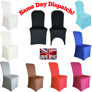 Spandex-Dining-Room-Chair-Covers-Slip-SEAT-Cover-Stretch-Removable-Wedding-White