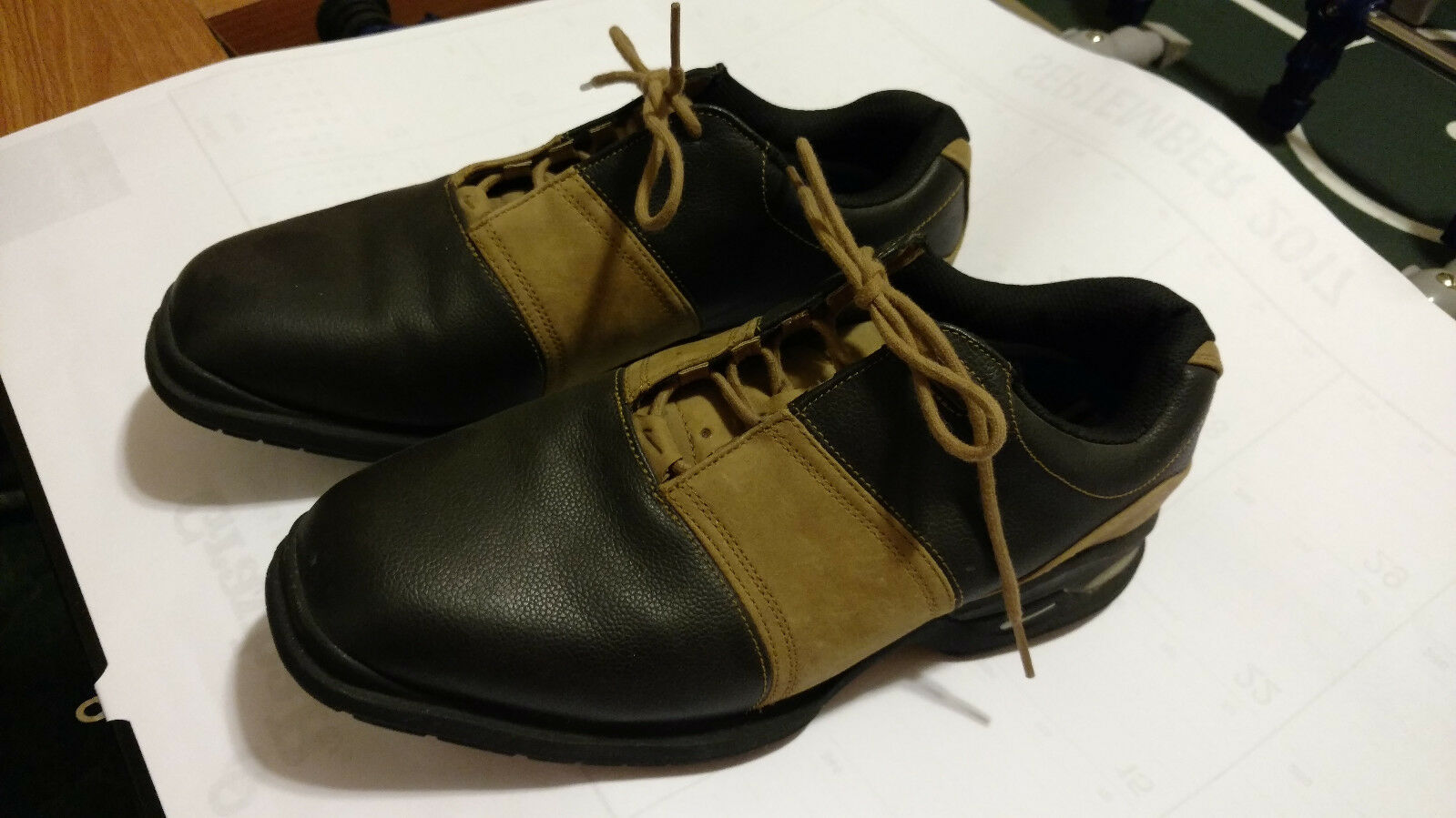 Men's Nike Tiger Woods Brown Saddler Golf Shoes Sz 7 *Very Nice* Seasonal clearance sale