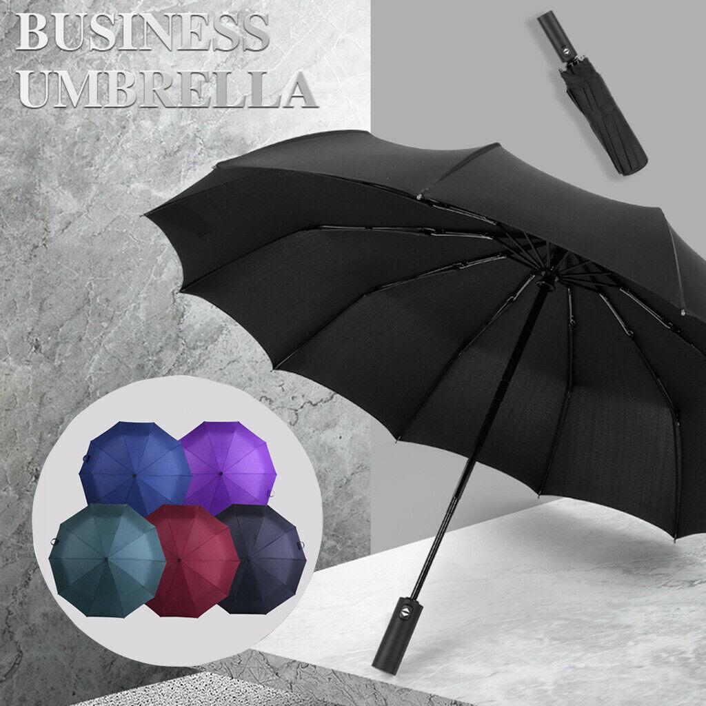 Windproof Double Layer Inverted Umbrellas Reverse Folding Umbrella UV UK