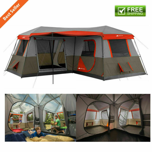 reputable site 5e8c8 644aa 16 x 16' 3 Room Cabin Tent Outdoor Camping Festival Canopy 12 Person  Shelter Set