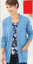 Damart Soft Easy care Cardigan Cornflower Blue Size 1416