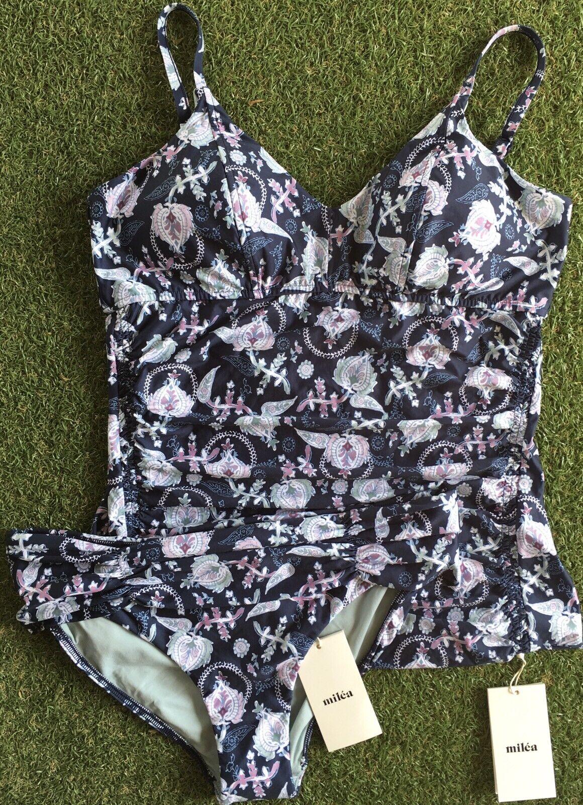 New Milea Pushkar Paisley Soft E Cup Singlet & Mid Rise Pant - Size AU12   US8