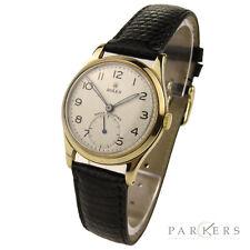 Reloj de Pulsera ROLEX choque resistir Vintage 9CT Mecánico de viento de mano de oro 12325