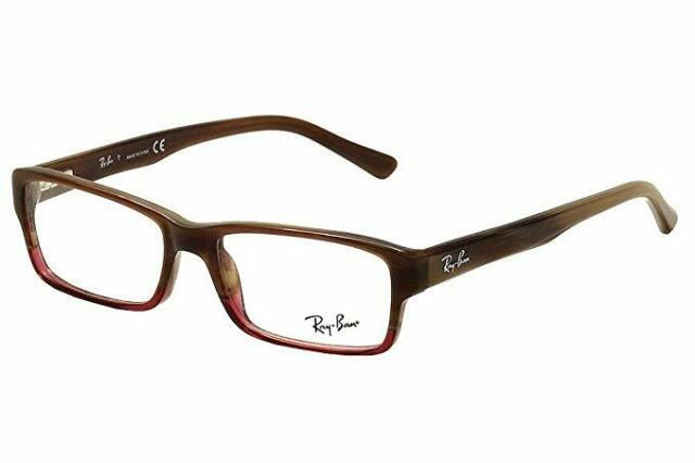 bd87aa34a91c4 New Authentic Ray Ban Rectangular Eyeglasses RX5169 Brown Horn 5541 size  52mm
