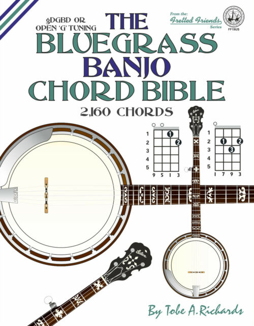 The Bluegrass Banjo Chord Bible Open G Tuning 2 160 Chords | eBay