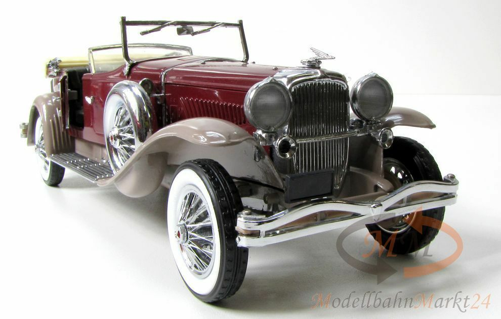 Franklin MINT 1930 Duesenberg J Cabriolet rojo Vinaccia gris marrón scale 1 24