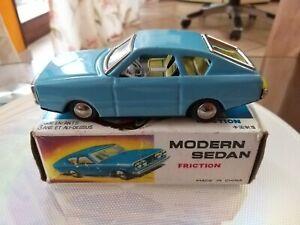 Rara Auto in Latta MODERN SEDAN friction ANNI 60  MADE IN CHINA in BOX