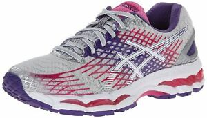 Details zu ASICS GEL-NIMBUS 17 WOMENS RUNNING SHOES TRAINERS T560N 9301  WHITE PINK UK 3.5