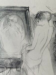 Marcel vertes etching lithograph study of madame woman in portrait