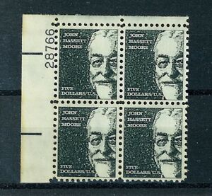 US-Stamps-Scott-1295-5-Moore-Plate-Block-EXT-FINE-MNH-20-Face-Value-S72
