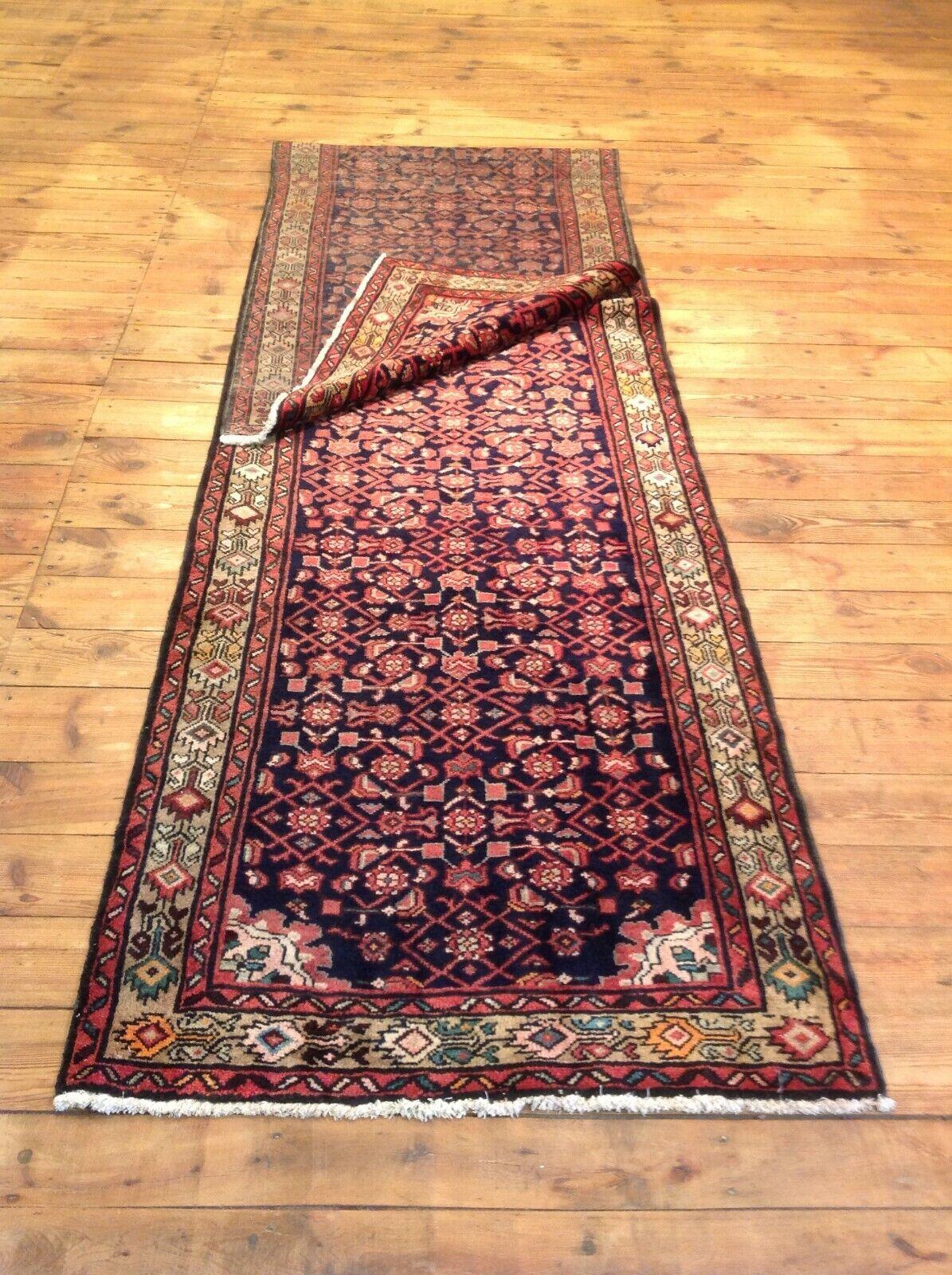 Precioso Orient alfombra Hamadan 421 x 82 cm alfombra persa top nuevo