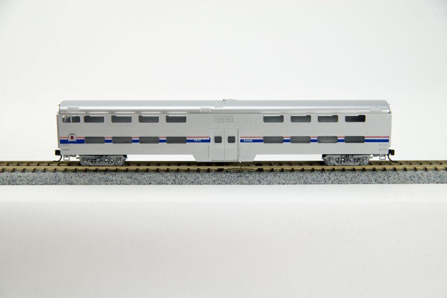 N PullStd  Bi-Level  Cab  Commuter Cars-Amtrak Phase IV Paint Scheme(1-040541)