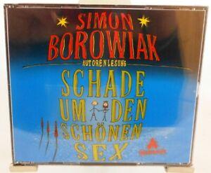 Simon-Borowiak-Autorenlesung-Schade-um-den-schoenen-Sex-Hoerbuch-auf-3-Cds
