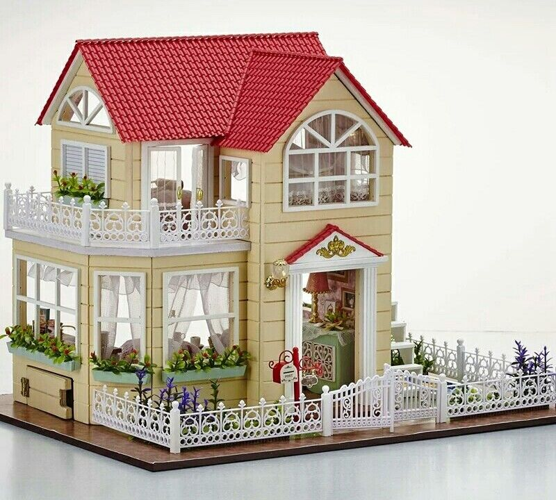 DIY Build Mansion Doll House with Furniture and Accessories 1:24 Scale