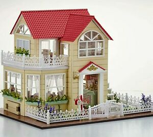 Image Is Loading DIY Miniature Doll House With Furniture And Accessories