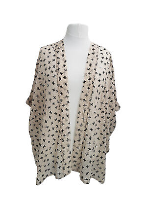 Plus Size Beige Luce Floaty Cardigan-tipo Overjacket Throw-over Tg 16 A 36-mostra Il Titolo Originale