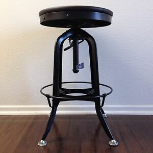 Toledo Vintage Drafting Metal Bar Stool Industrial Restoration Hardware Ebay