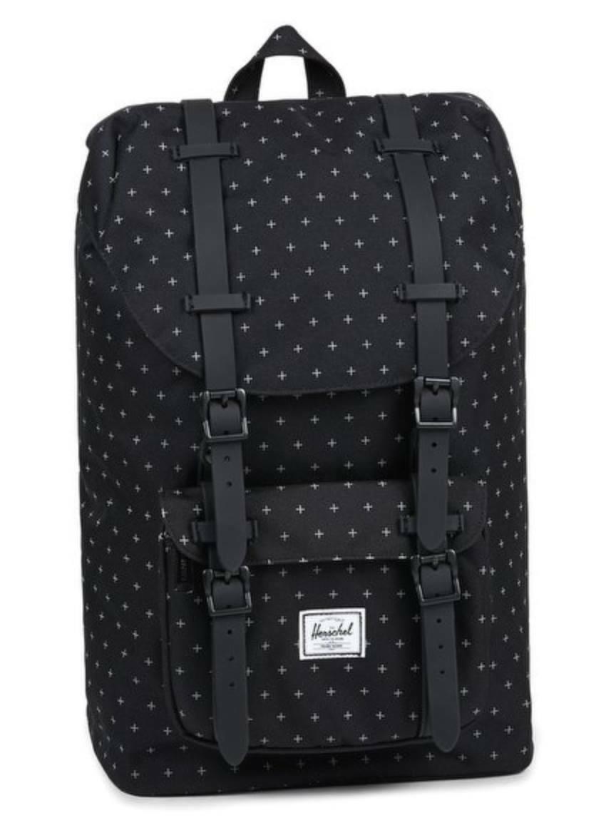 Herschel Supply Little America Mid-Volume Light 17L Backpack, Black Gridlock