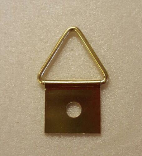 pack de 10 Brass Coated Single Hole Photo Cintre Crochet 14 mm