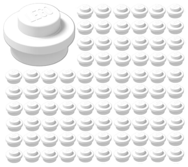 Lego 100 NEW Trans-Red Plates 1 x 1 Dot Transparent Pieces Parts
