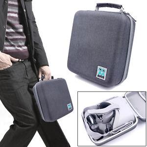 Portable-Canvas-Carrying-Case-Storage-Bag-Handbag-for-Oculus-Go-VR-Headset-Gray
