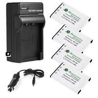 4 Np-20 Battery + Charger For Casio Exilim Ex-z60 Ex-z70 Ex-z75 Ex-z77 Ex-s880