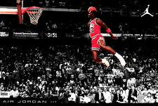 "51 Michael Jordan Slam Dunk NBA 21""x14"" Poster"