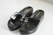 Donald J Pliner - Slip On Black Wedge Sandals - Size 10M USA / UK 7.5 - Used