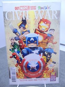 Civil-War-1-001-Variant-Cover-Mini-Mates-Marvel-Comics-vf-nm-CB2181