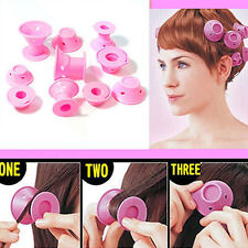 10 PCS/Set Hair Curlers Tool Spiral Roller Silicone Hair DIY No heat Magic Curl