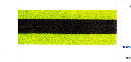 "Clothing Mend BONDEX IRON ON REFLECTIVE TAPE-SAFETY YELLOW Repair 2/"" x 32/"""