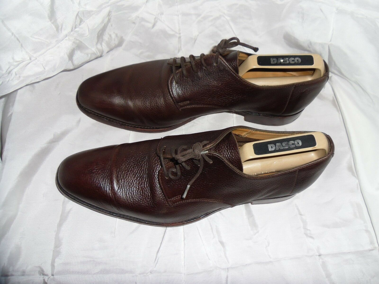 MEN'S BROWN REAL LEATHER LACE UP SHOE SIZE VGC