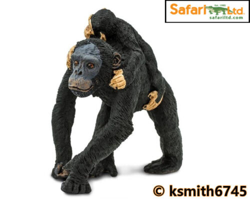Safari CHIMPANZEE /& BABY plastic toy wild zoo animal ape monkey CHIMP NEW