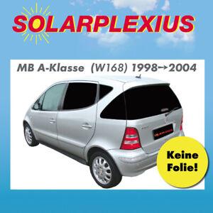 Auto Sonnenschutz fertige Keine Folien passgenaue Scheiben T/önung 98-04 Sonnenblenden Vorsatzscheiben Mercedes A-Klasse W168 Bj