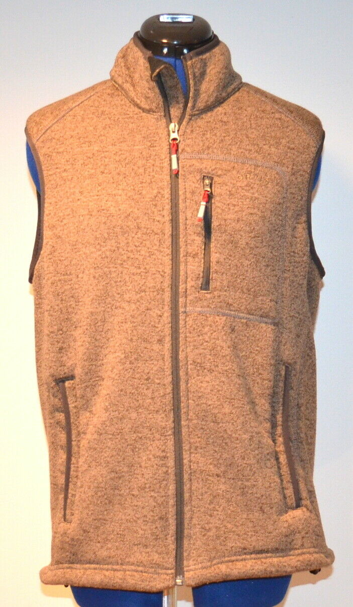 ORVIS Men's Sweater Fleece Vest (Brown) Medium