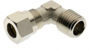 92806-1-8-Aignep-Messing-Vernickelt-Ellenbogen-Nieten-Rohr-Od-6mm-X-Bspt-Male