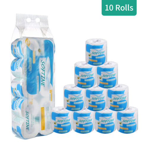 1*10-Roll 3Ply Paper Towels Toilet Bathroom Kitchen Household Soft Skin Friendly